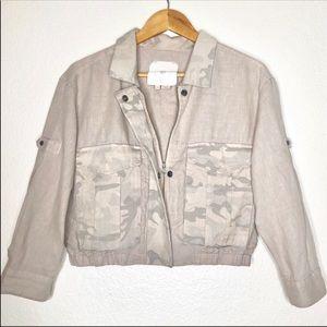 Anthropologie Hei Hei Cropped Camo Jacket Sz XS